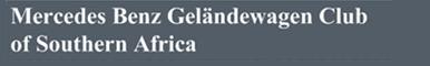 SA National 4x4 Clubs - Gelandewagen Club