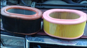 Air Intake System - dirty filter vs clean filter