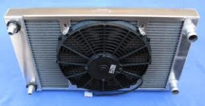 Engine cooling system - Electric fan and radiator
